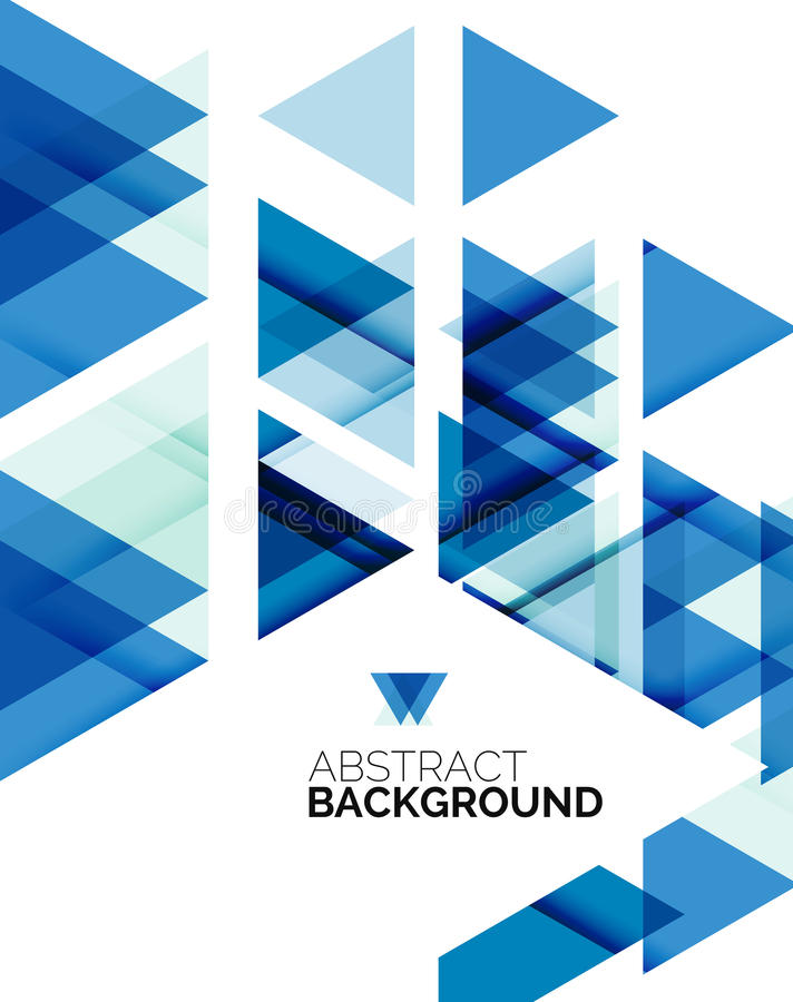 Triangle geometric abstract background stock illustration