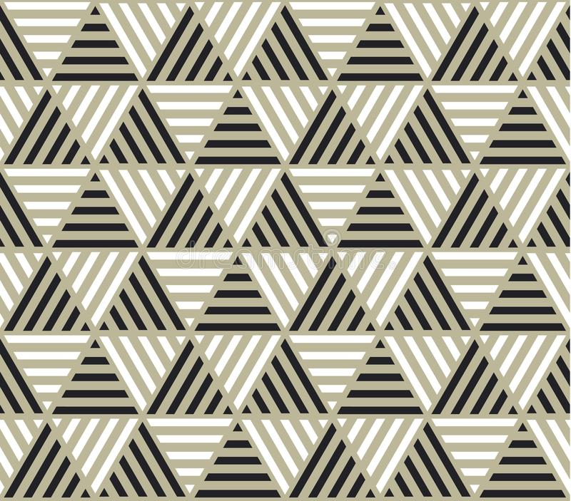 Triangle geometry backdrop with stripes for web and print. royalty free illustration
