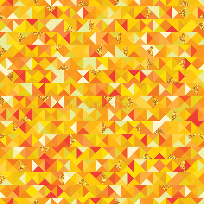 Triangle golden giltter piece seamless pattern vector illustration