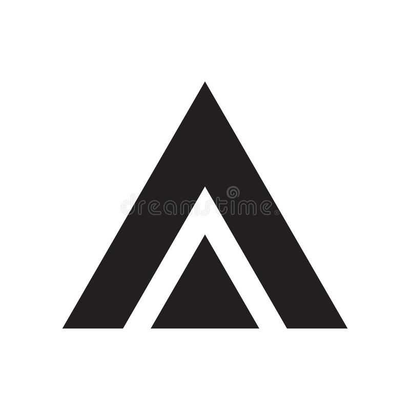 Triangle icon vector sign and symbol isolated on white background, Triangle logo concept. Triangle icon vector isolated on white background for your web and vector illustration
