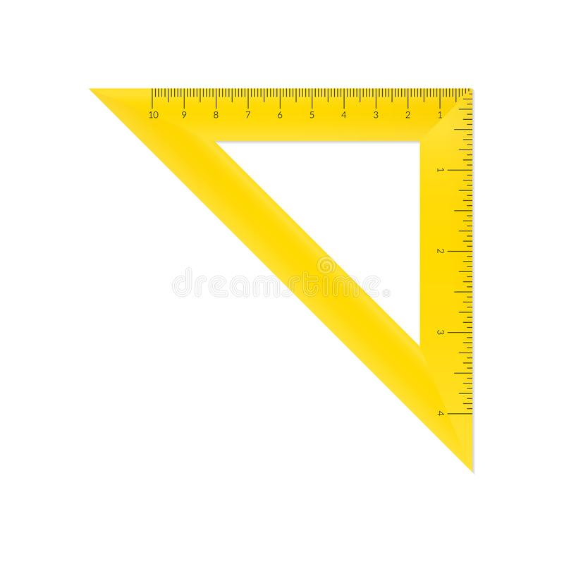 Triangle isocèle en plastique illustration stock