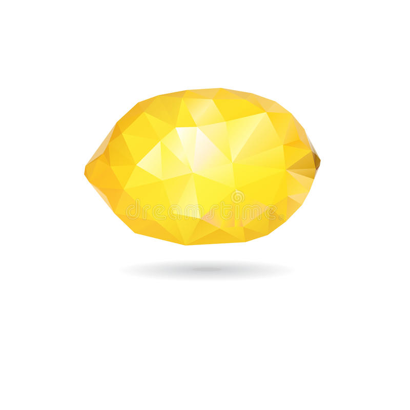 Triangle jaune citron graphique illustration de vecteur