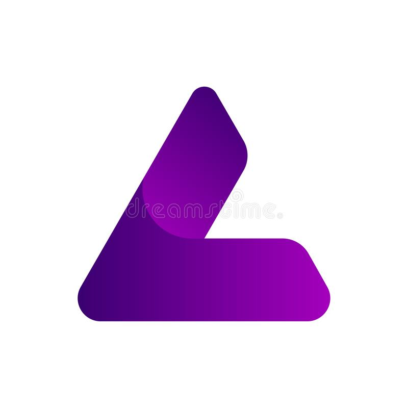 Triangle L or A initials logo design royalty free illustration