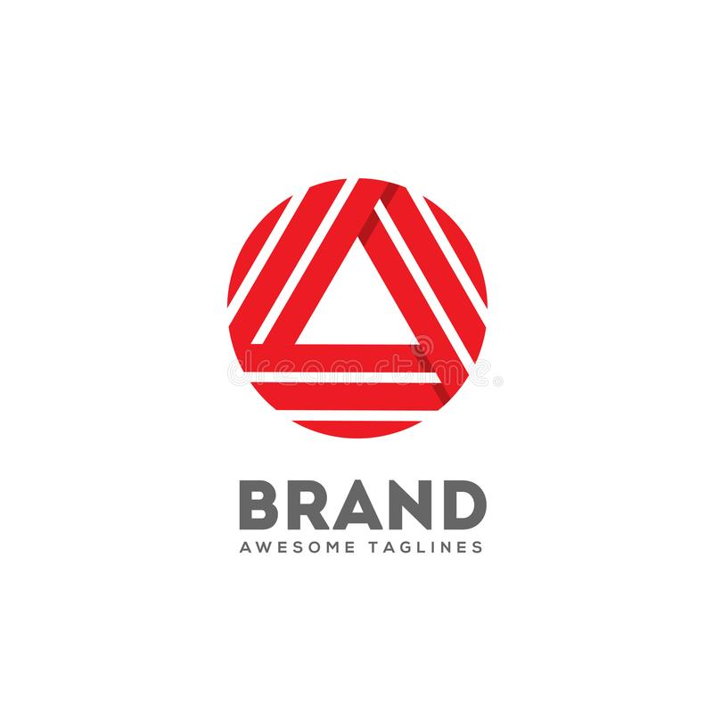 Triangle letter A logo concept royalty free illustration