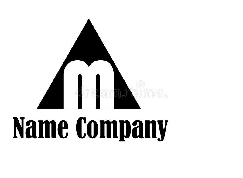 Letter M Logo Icon white backgraund royalty free stock photography