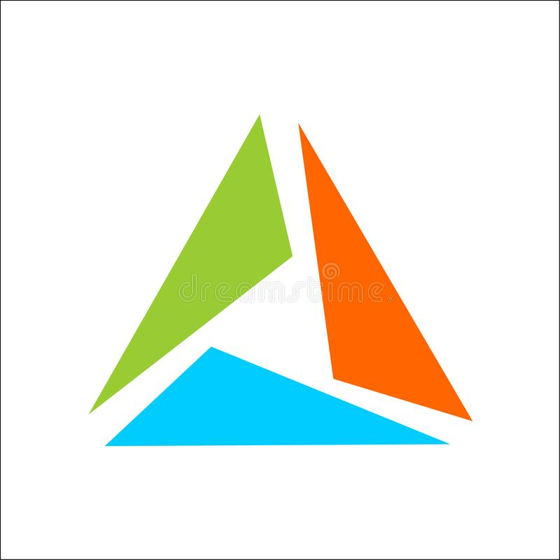 Triangle logo abstract template vector royalty free illustration