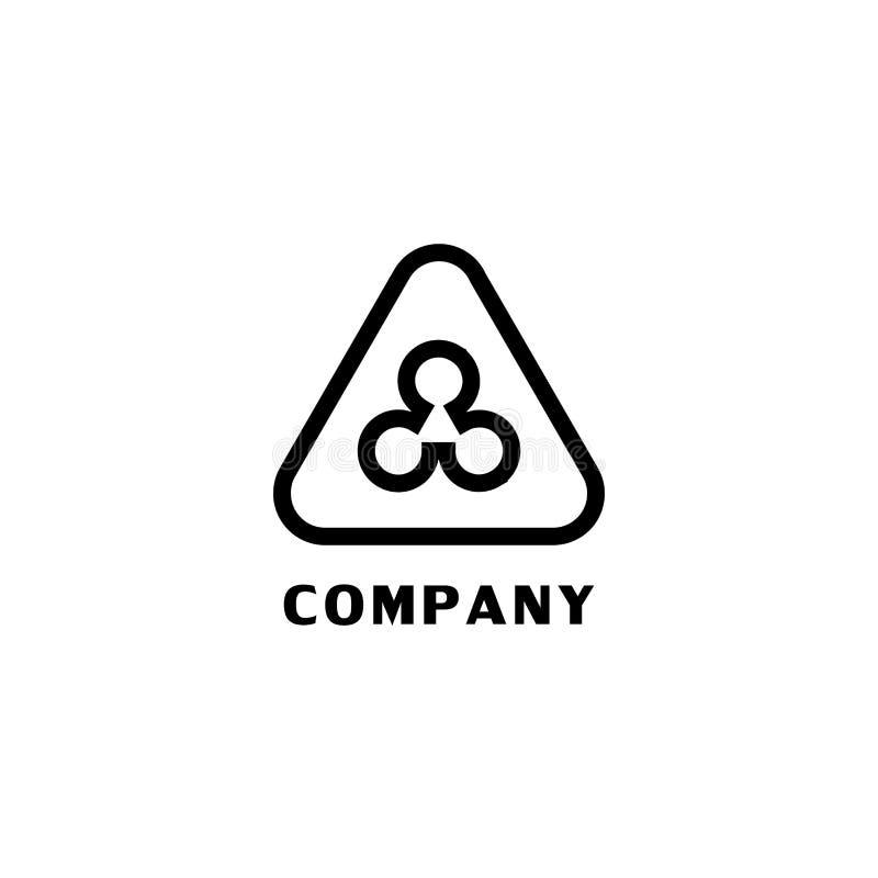 Triangle Logo Concept, Network, Construction Company Logo Design Template 皇族释放例证
