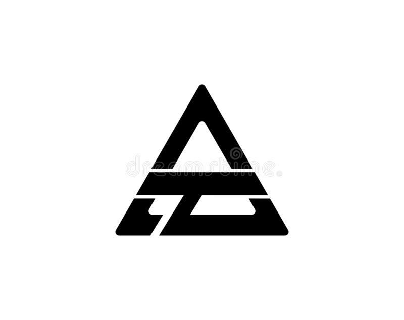 Triangle Logo Template illustration libre de droits