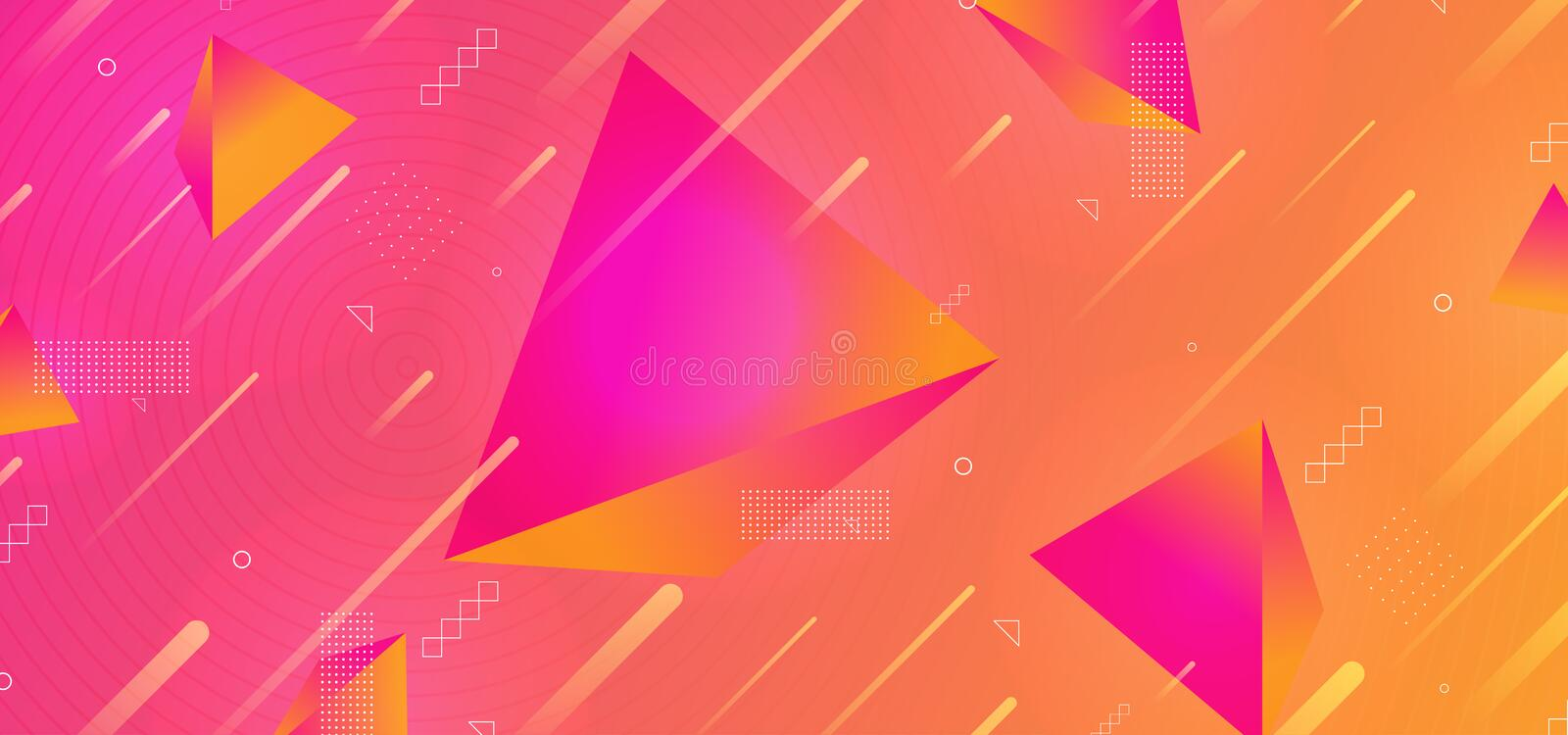 Triangle modern 3d background abstract geometric design with light effect and gradient vector illustration trendy stock illustration