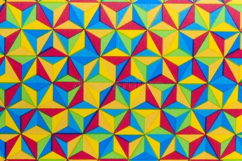 Triangle Multicolors Prisms Abstract Background - Carnival. Stock photo stock image
