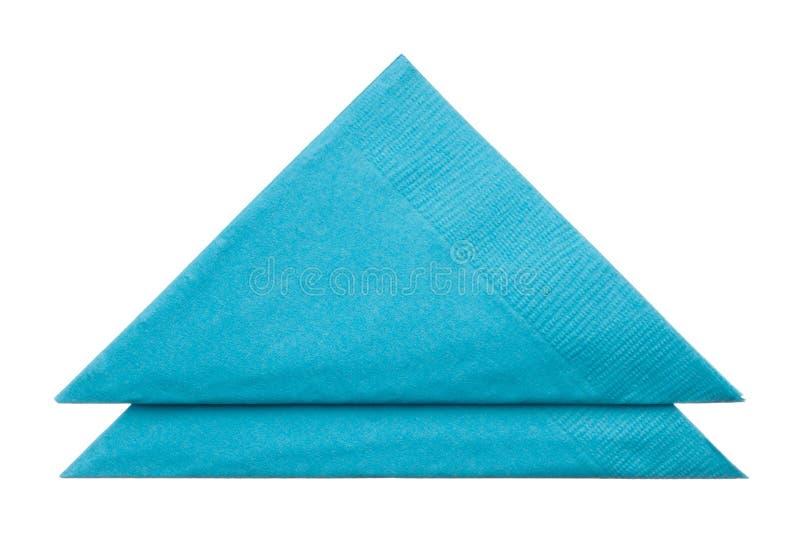 Triangle napkins isolated on white background. Close up royalty free stock photo