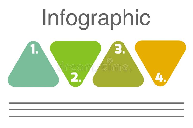 Triangle with numbers Presentation business infographic template with 4 options. Business infographics desing template with icons and 4 steps. Can be used for vector illustration