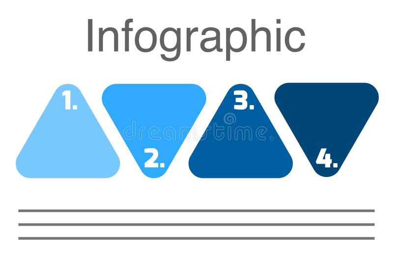 Triangle with numbers Presentation business infographic template with 4 options. Business infographics desing template with icons and 4 steps. Can be used for royalty free illustration