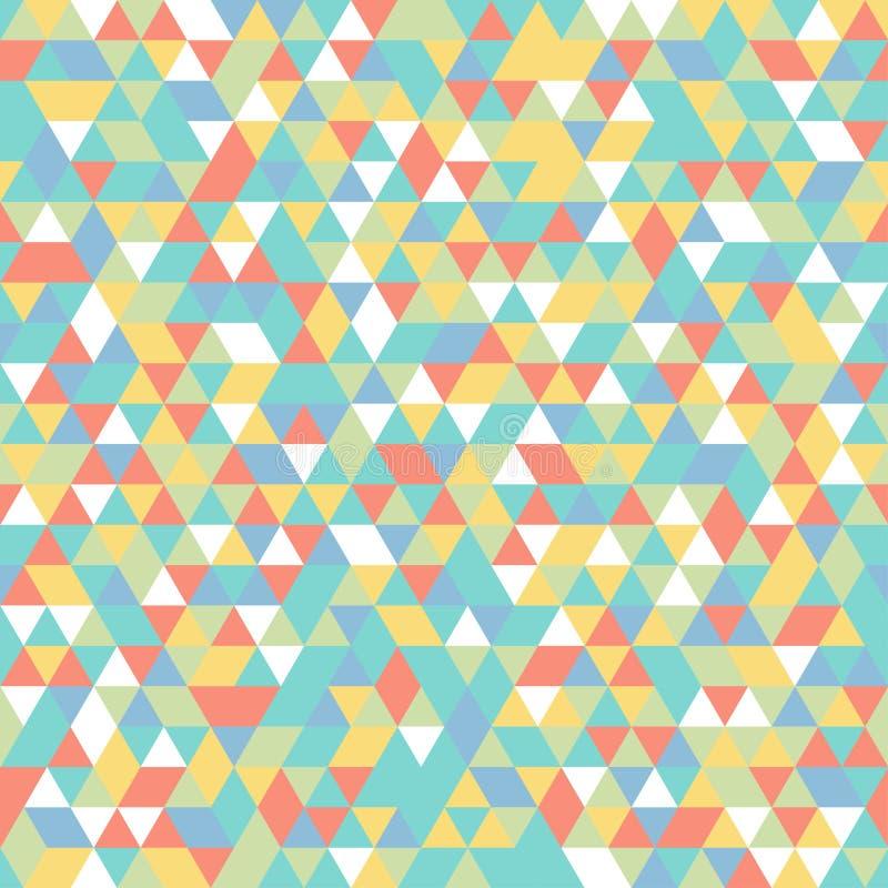 Triangle orange blanche géométrique de vert bleu de jaune de modèle de mosaïque illustration de vecteur