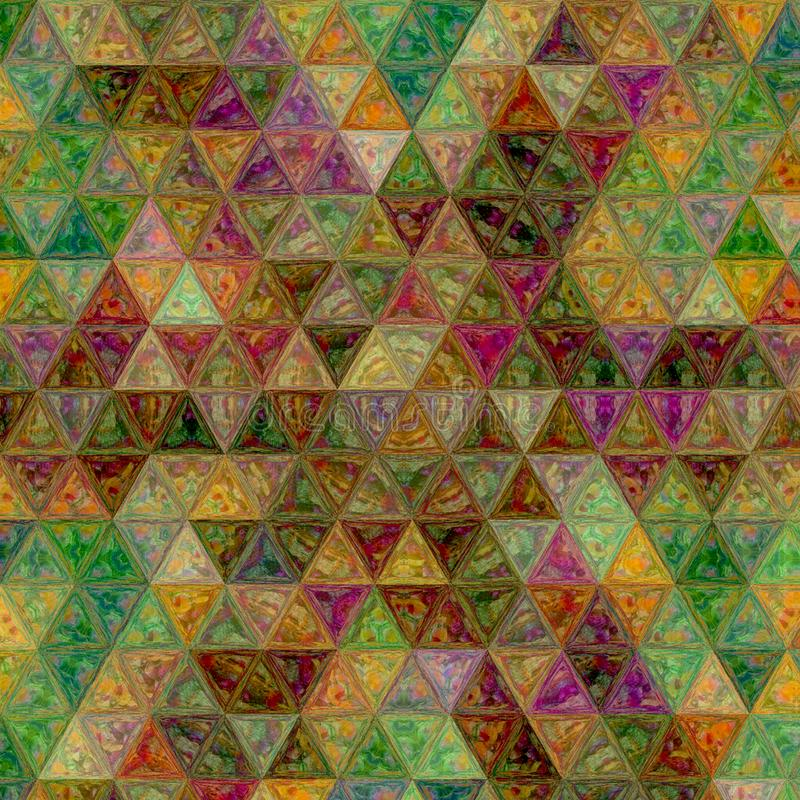 Triangle patchwork background of pale rainbow colors. Patchwork background of pale rainbow colors royalty free stock photo