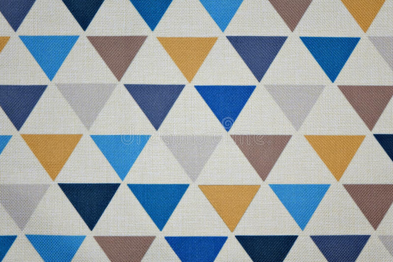Triangle pattern fabric stock photos