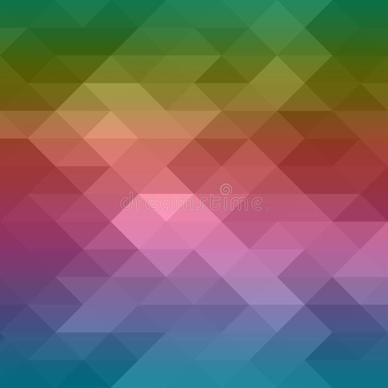 Triangle pattern low poly background with abstract design in colorful blue purple pink red orange yellow and green colors of the r vector illustration