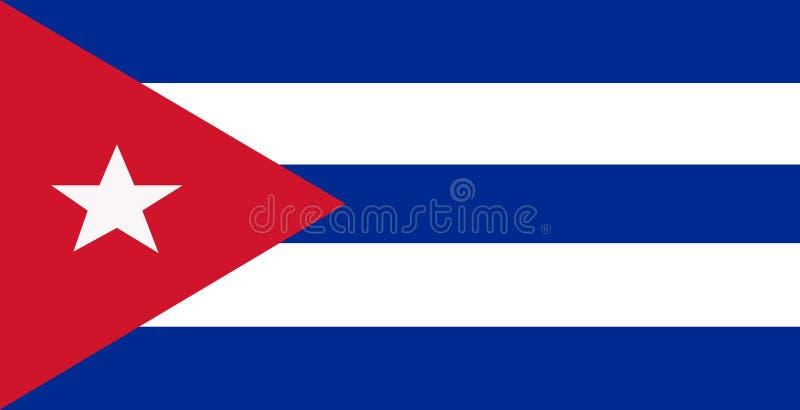 Triangle rouge du blanc le cubain du bleu deux des barres trois du drapeau cinq avec une étoile cinq-aiguë illustration libre de droits