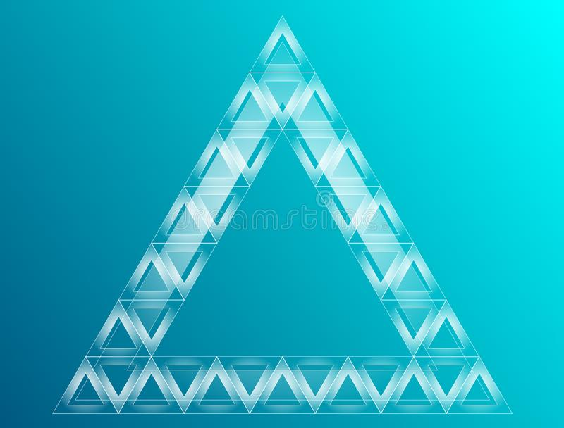Triangle rougeoy?e abstraite sur le fond fonc? illustration stock