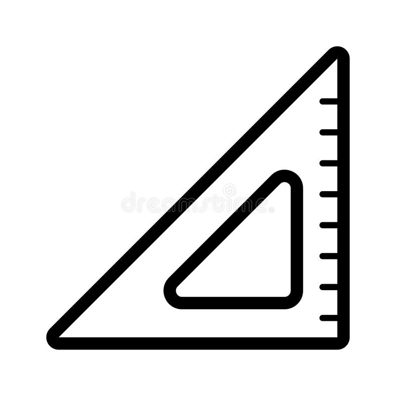 triangle ruler vector icon black and white illustration of school rh dreamstime com ruler vector free download ruler vector free