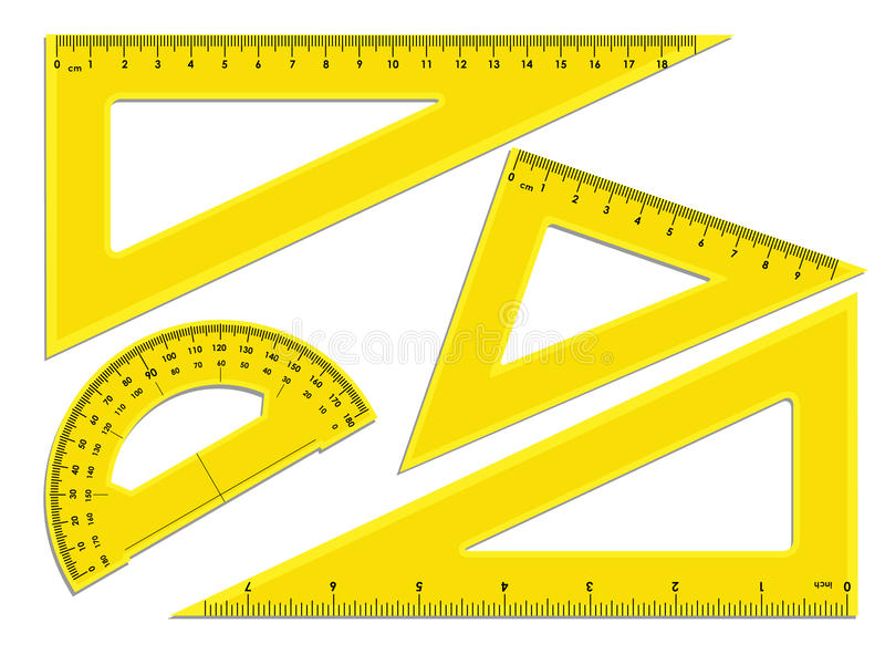Triangle Rulers And Protractor Stock Vector Illustration Of