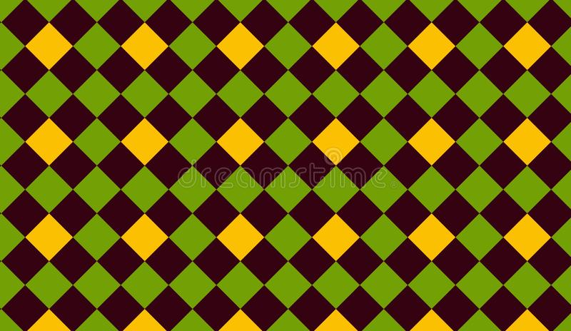 Triangle seamless pattern background . Illustration design. Grern, shapes, yellow, wall, wallpaper, backdrop, texture, blanket, new, art, print, decor, room stock photography