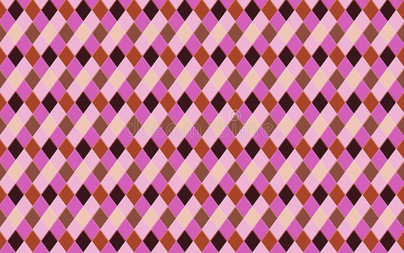 Triangle seamless pattern background. Illustration design. Triangle seamless pattern, purple, violet, color, fabric, flannel, creative, mosaic, wallpaper stock illustration