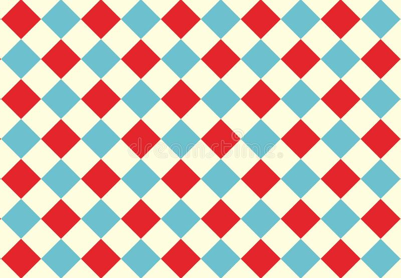 Triangle seamless pattern background. Red blue colors wallpaper backdrop design graphic concept creative new art floor room print geometric royalty free stock photo