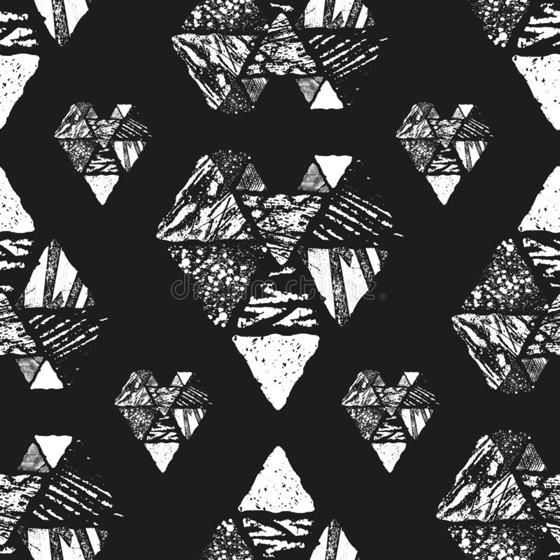 Triangle seamless pattern stock photography