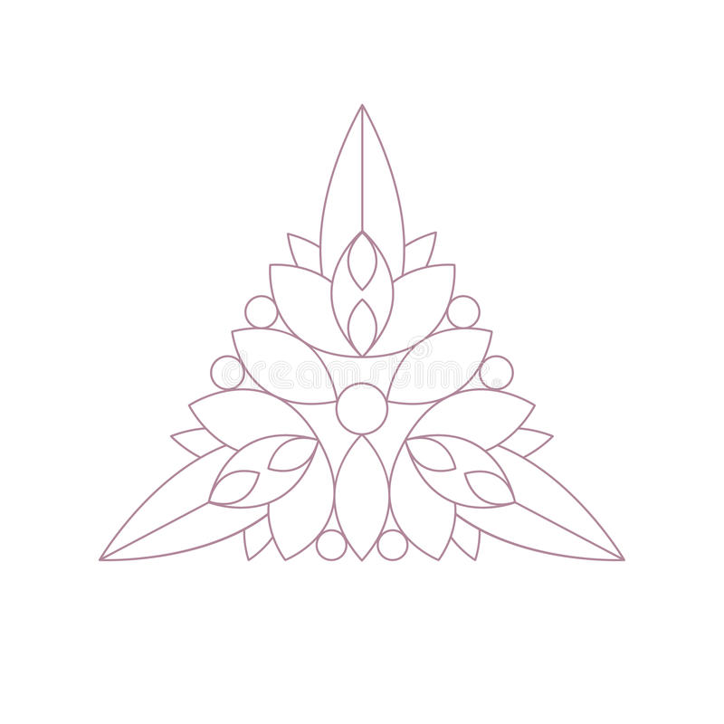Free Triangle Shape Doodle Ornamental Figure In Monochrome Color For The Zen Adult Coloring Book Illustration Stock Photo - 82752320