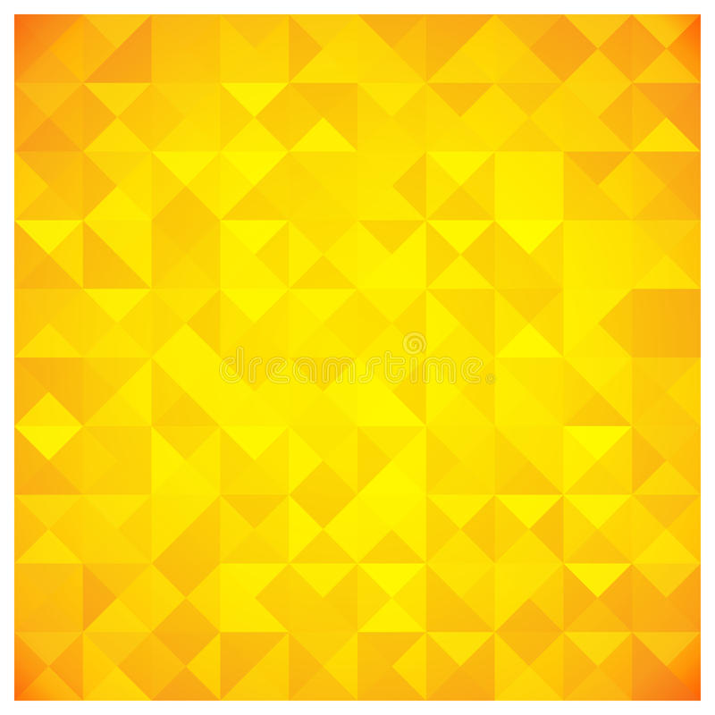 Triangle and Square Yellow Abstract Pattern royalty free illustration