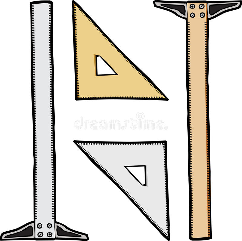 Triangle And T-Square Stock Photos
