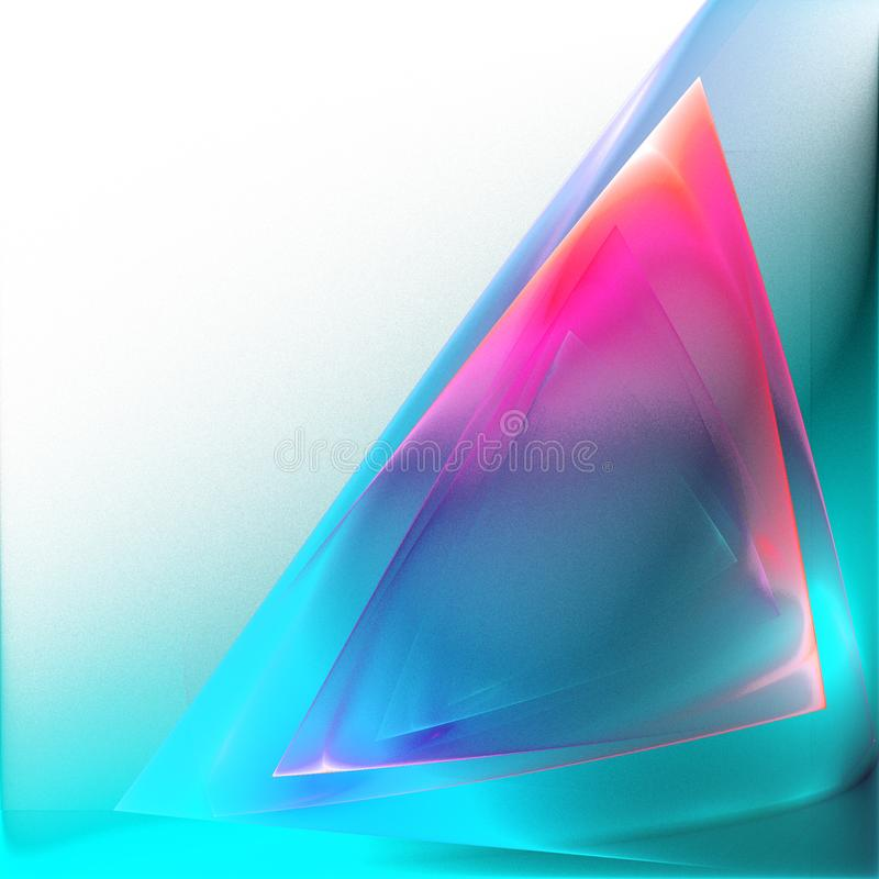 Triangle translucide de couleur lumineuse abstraite illustration de vecteur
