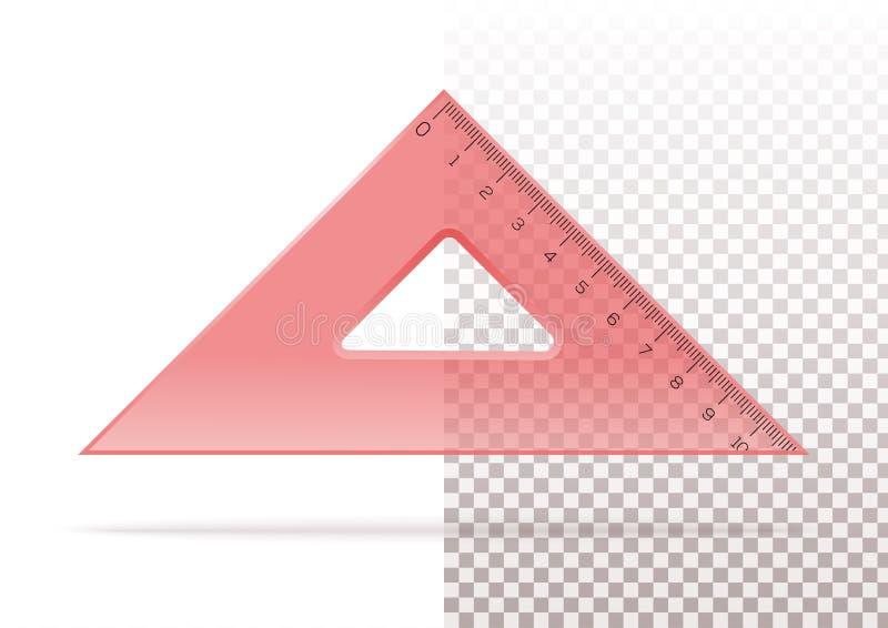 Triangle transparente en plastique rouge illustration de vecteur
