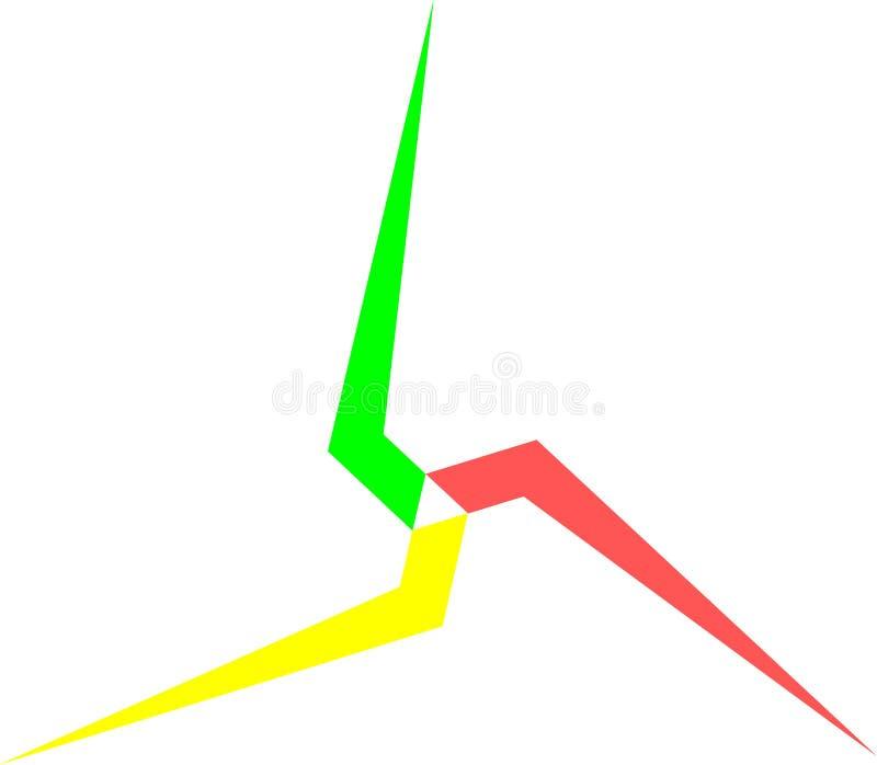 Triangle unique d'étoile illustration stock