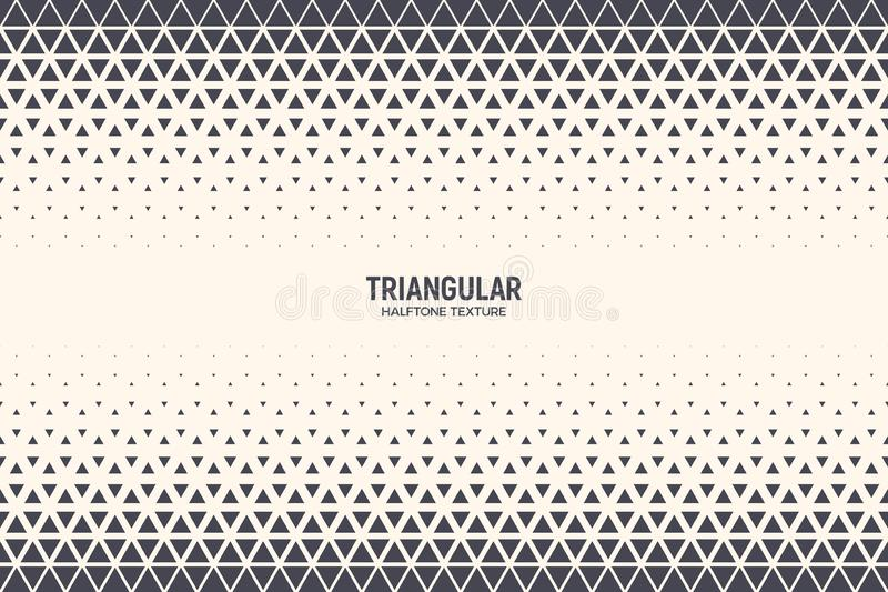 Halftone Triangle Particles Vector Abstract Technology Background royalty free illustration