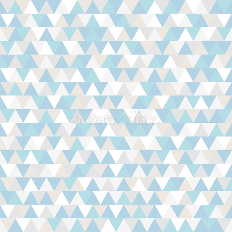 Triangle vector pattern. Blue grey and white polygonal winter holiday background. Abstract New Year illustration royalty free illustration