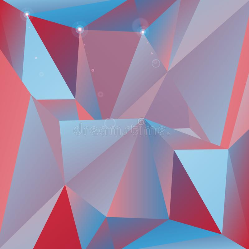Triangle vector pattern, cute geometric tile royalty free illustration