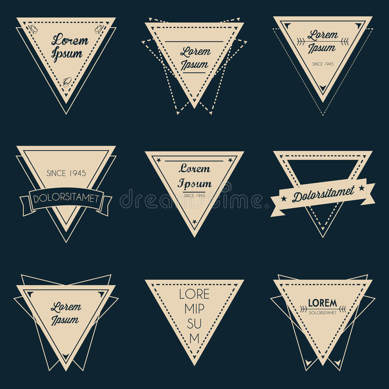 Download Triangle Vintage Label Set stock vector. Illustration of classical - 39510460