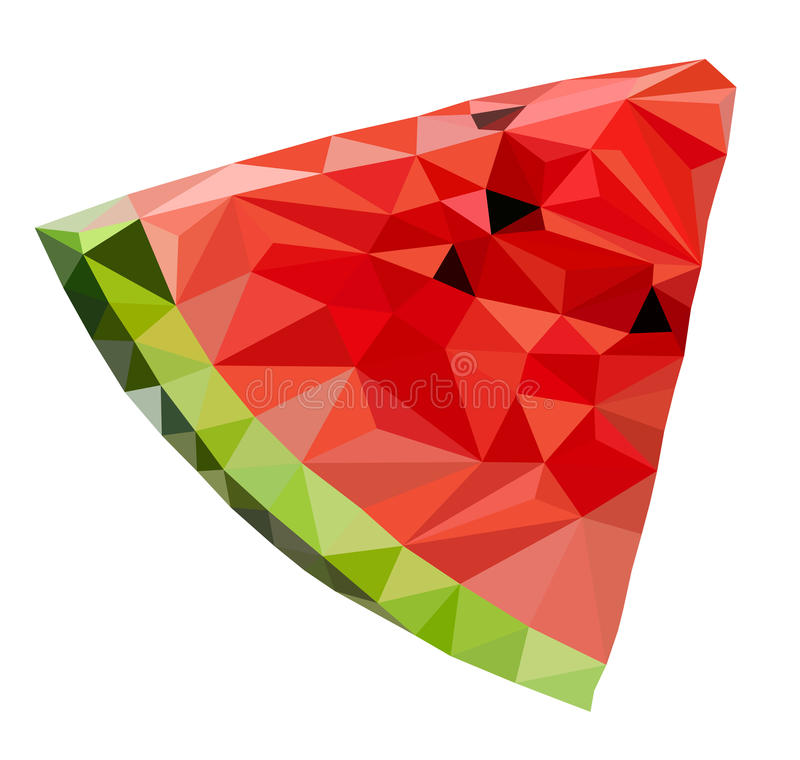 Triangle watermelon vector royalty free stock images