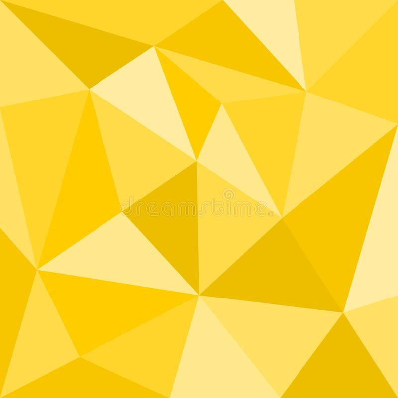 Triangle yellow vector background or seamless sunny summer pattern. royalty free illustration