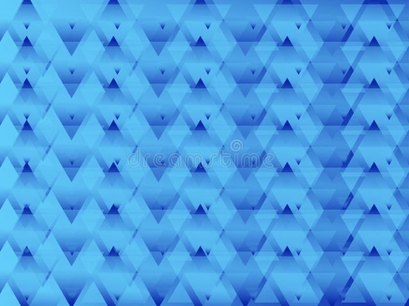 Triangled Blauwe Samenvatting stock illustratie