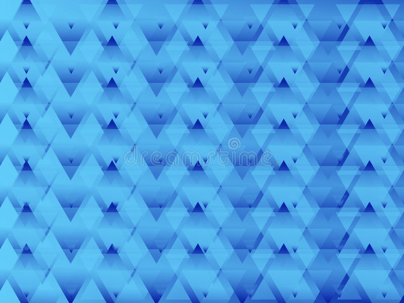 Triangled Blue Abstract stock illustration