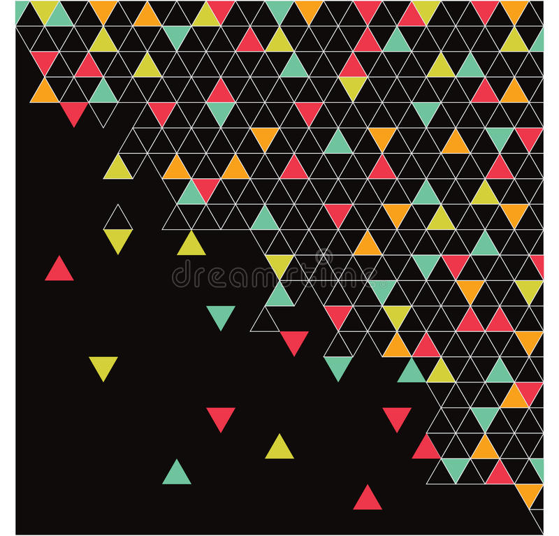 Triangles abstraites, fond image libre de droits