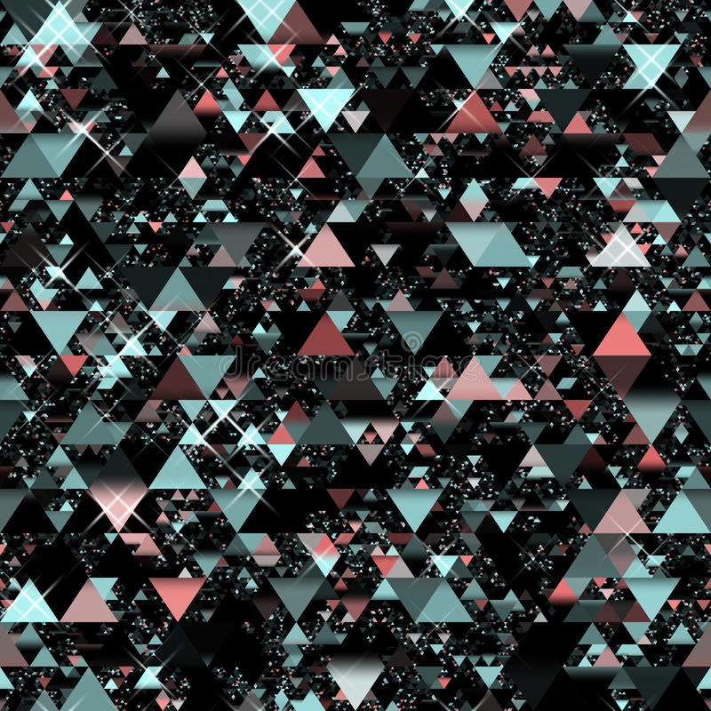 Triangles aléatoires illustration stock