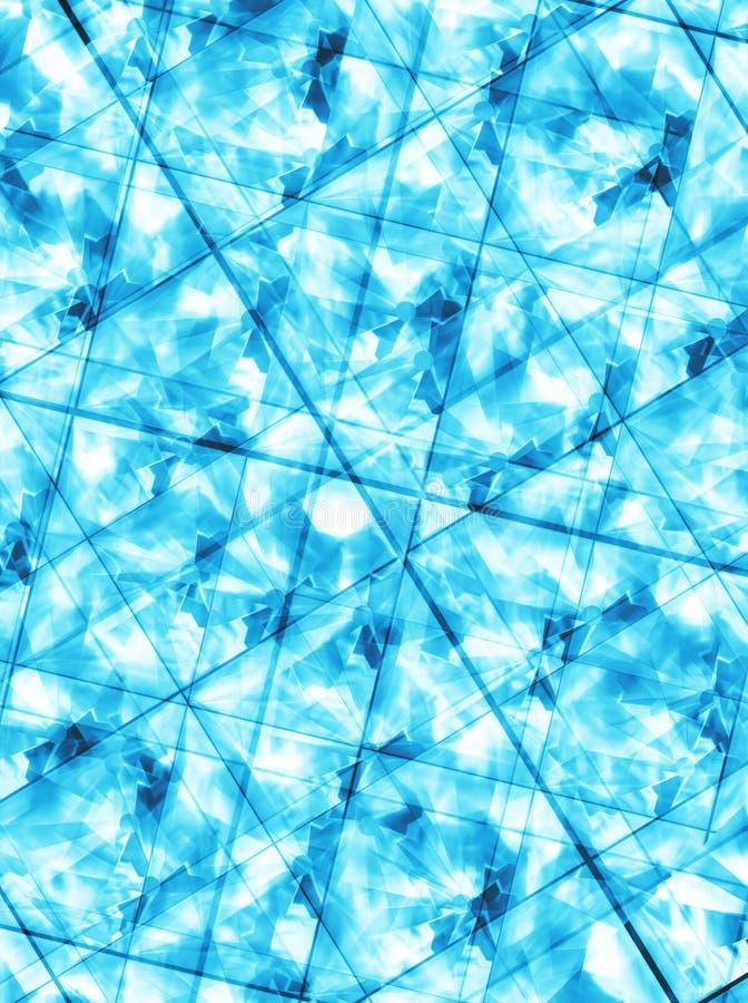 Triangles bleues 2 illustration libre de droits