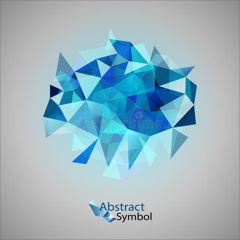 Triangles bleues illustration de vecteur