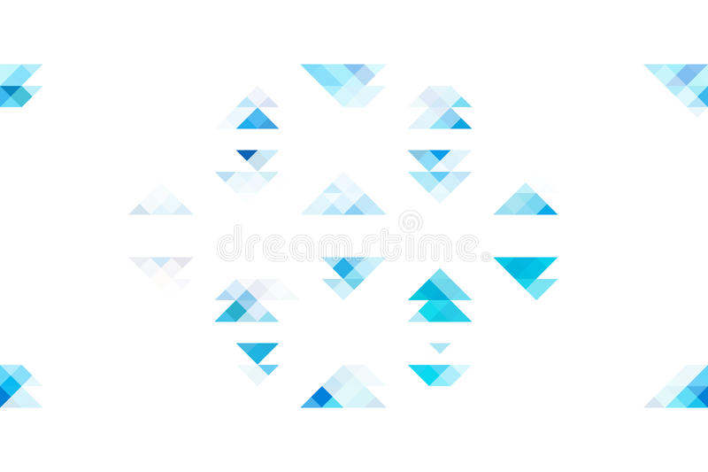 Triangles bleues de ton sur le fond blanc d'isolement illustration libre de droits
