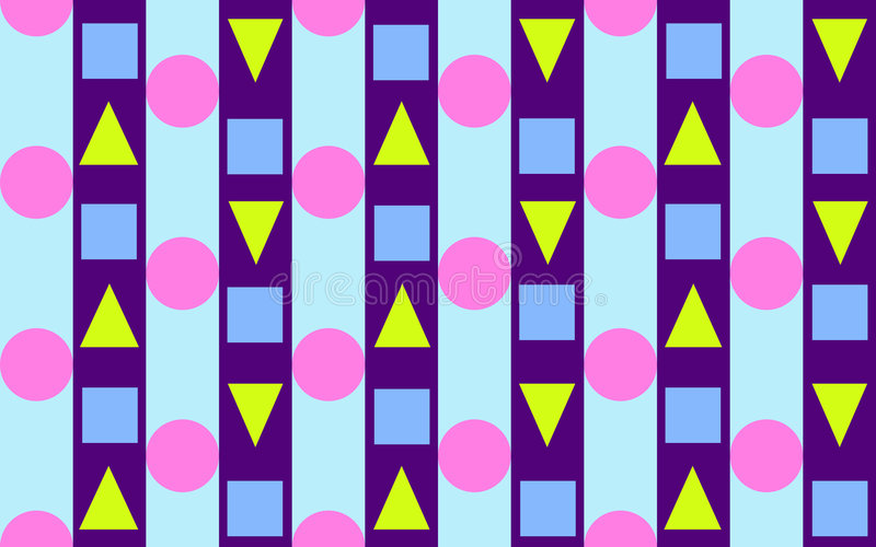 Triangles, Circles And Stripes 2 Stock Photos
