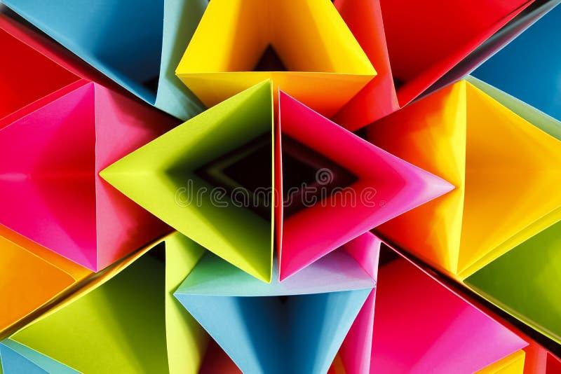 Triangles colorées photographie stock libre de droits
